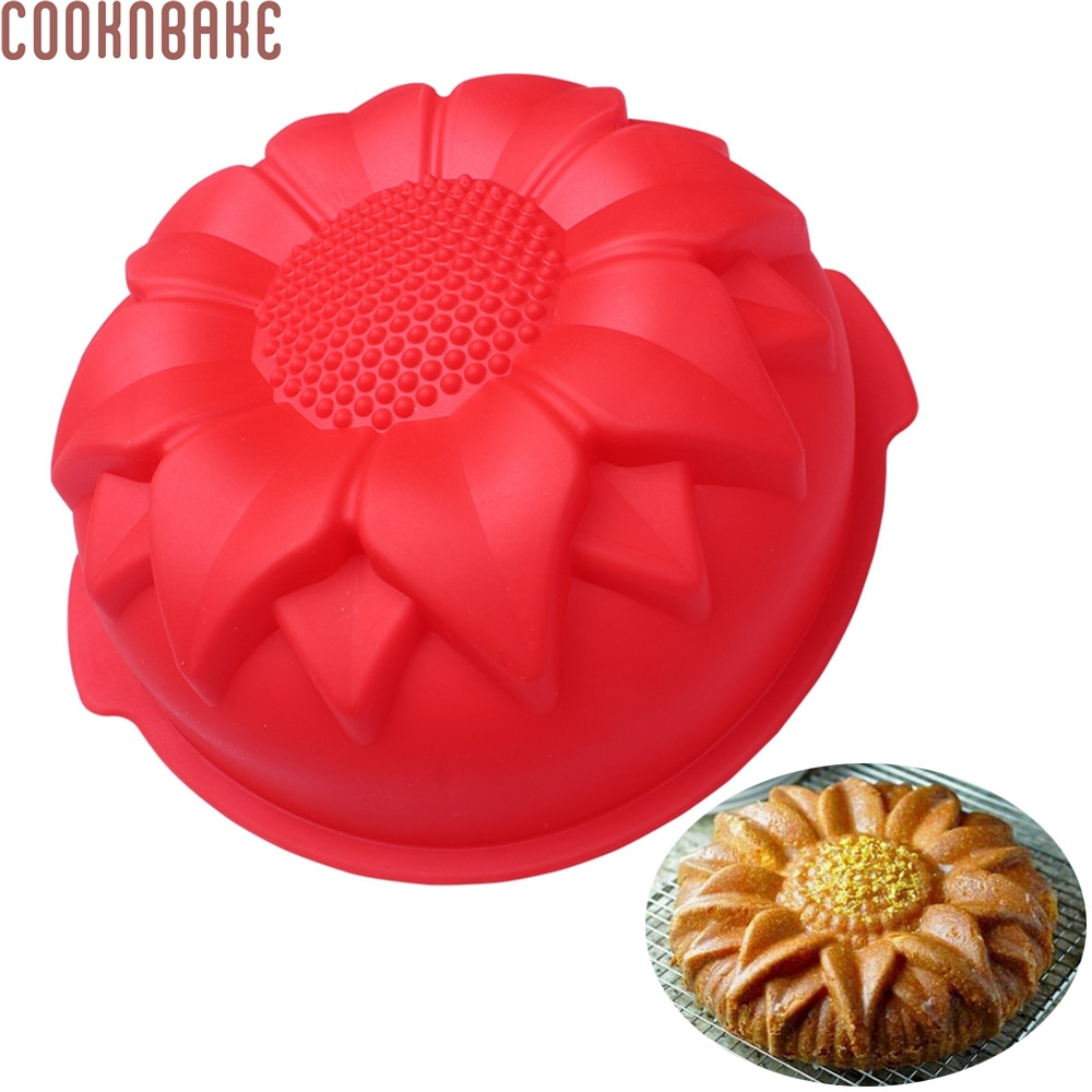 [해외]/COOKNBAKE DIY Silicone Cake Baking Mold Big Sunflower DIY Silicone Cake Mold christmas DIY Mold Wedding Decoration CDSM-140